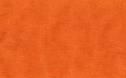 Plan rapproché orange de vêtement de coton Photographie stock
