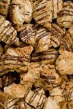 Plan rapproché original de texture d'assortiment de biscuits image libre de droits