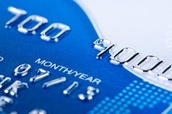 Plan rapproché par la carte de crédit. image stock