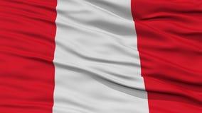 Plan rapproché Peru Flag Photographie stock libre de droits