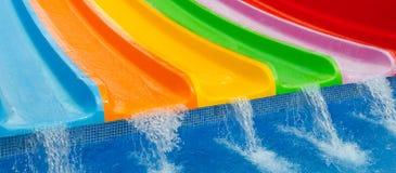 Plan rapproché pour les glissières colorées Photographie stock libre de droits