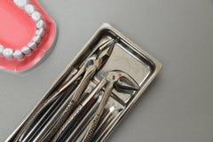 Plan rapproché réglé de chirurgie dentaire de Professinal Photographie stock libre de droits