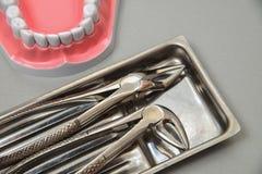 Plan rapproché réglé de chirurgie dentaire de Professinal Photos stock