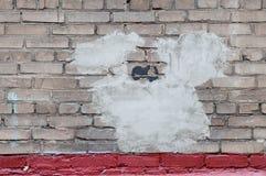 Plan rapproché rénové de mur de briques pour le fond Images libres de droits