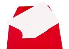 Plan rapproché rouge d'enveloppe Images libres de droits