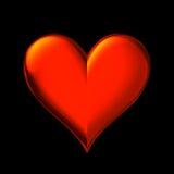 Plan rapproché rouge de coeur illustration stock