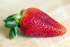 Plan rapproché rouge de fraise Photographie stock