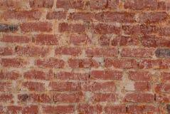 Plan rapproché rouge de texture de mur de briques de vintage images libres de droits