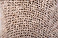 Plan rapproché rugueux de toile de jute de serviette éponge de fond Photos libres de droits