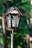 Plan rapproché rustique de lampe Photos libres de droits