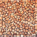 Plan rapproché scié naturel en bois de rondins Images libres de droits