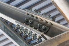 Plan rapproché structurel en métal Images libres de droits