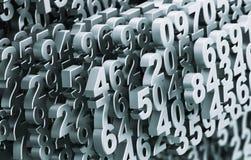 Plan rapproché sur des nombres se composants en métal de Digital Matrix illustration de vecteur