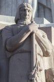 Plan rapproché sur le monument de liberté à Riga Images stock