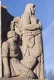 Plan rapproché sur le monument de liberté à Riga Photographie stock libre de droits