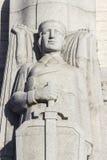 Plan rapproché sur le monument de liberté à Riga Image stock