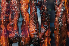 Plan rapproché sur le rôti de porc chinois photographie stock