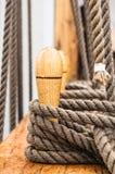 Plan rapproché tiré de la corde Photographie stock