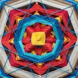 Plan rapproché tricoté de mandala photo libre de droits