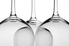 Plan rapproché trois en verre de vin photographie stock