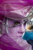 Plan rapproché vénitien de masque Photographie stock libre de droits