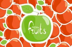 Plan rapproché vert de pomme Photo libre de droits
