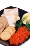 Plan rapproché de repas de caviar Image stock