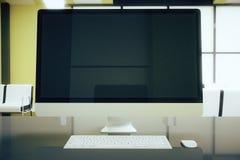 Plan rapproché vide d'écran d'ordinateur Photos libres de droits