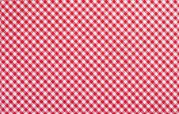 Tissu checkered rouge Photos stock