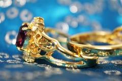 Plan rapproché d'anneau de mariage Images libres de droits