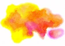 Plan rapproch? d'illustration peinte ? la main d'art d'aquarelle color?e : fond d'art abstrait illustration stock