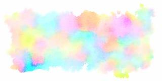 Plan rapproch? d'illustration peinte ? la main d'art d'aquarelle color?e : fond d'art abstrait illustration libre de droits