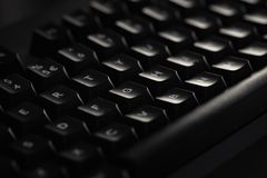 Plan rapproch? d'un clavier fonc? photo libre de droits