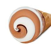 Plan rapproché de crème glacée d'isolement Image libre de droits