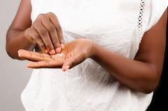 Plan rapproch? de fille africaine images libres de droits
