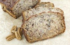 Plan rapproché de pain de noix de banane Photo libre de droits