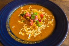 Plan rapproché de soupe à tortilla Image stock