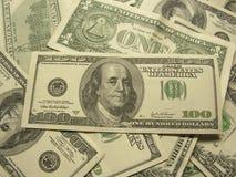 Plan rapproché des dollars Photo libre de droits