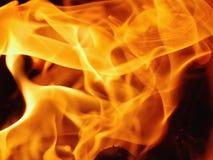 Plan rapproché des flammes de feu Photos libres de droits