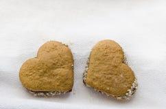 Plan rapproché des tartes et des biscuits Images stock