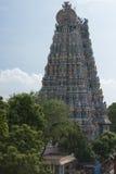 Plan rapproché du Gopuram du nord du temple de Meenakshi Image libre de droits