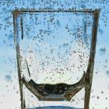 Plan rapproché en verre Photo stock