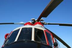 Plan rapproché militaire moderne d'hélicoptères Images stock