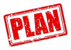 Plan red stamp text Stock Photography