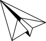Plan resizable redigerbar vektor för pappersnivåsymbol mycket i svart färg Royaltyfri Illustrationer
