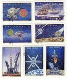 Plan russe d'explorateur de premières opérations de thems de l'espace Images stock