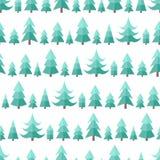 Plan sömlös modell med cristmasträd Fotografering för Bildbyråer