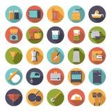 Plan samling för symboler för vektor för designmatlagninganordningar Arkivbilder