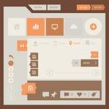 Plan sats för design UI UX Royaltyfria Bilder