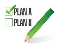 Plan a selected. illustration design Stock Images